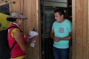 Trabajo de Capacitadores Electorales en Veracruz
