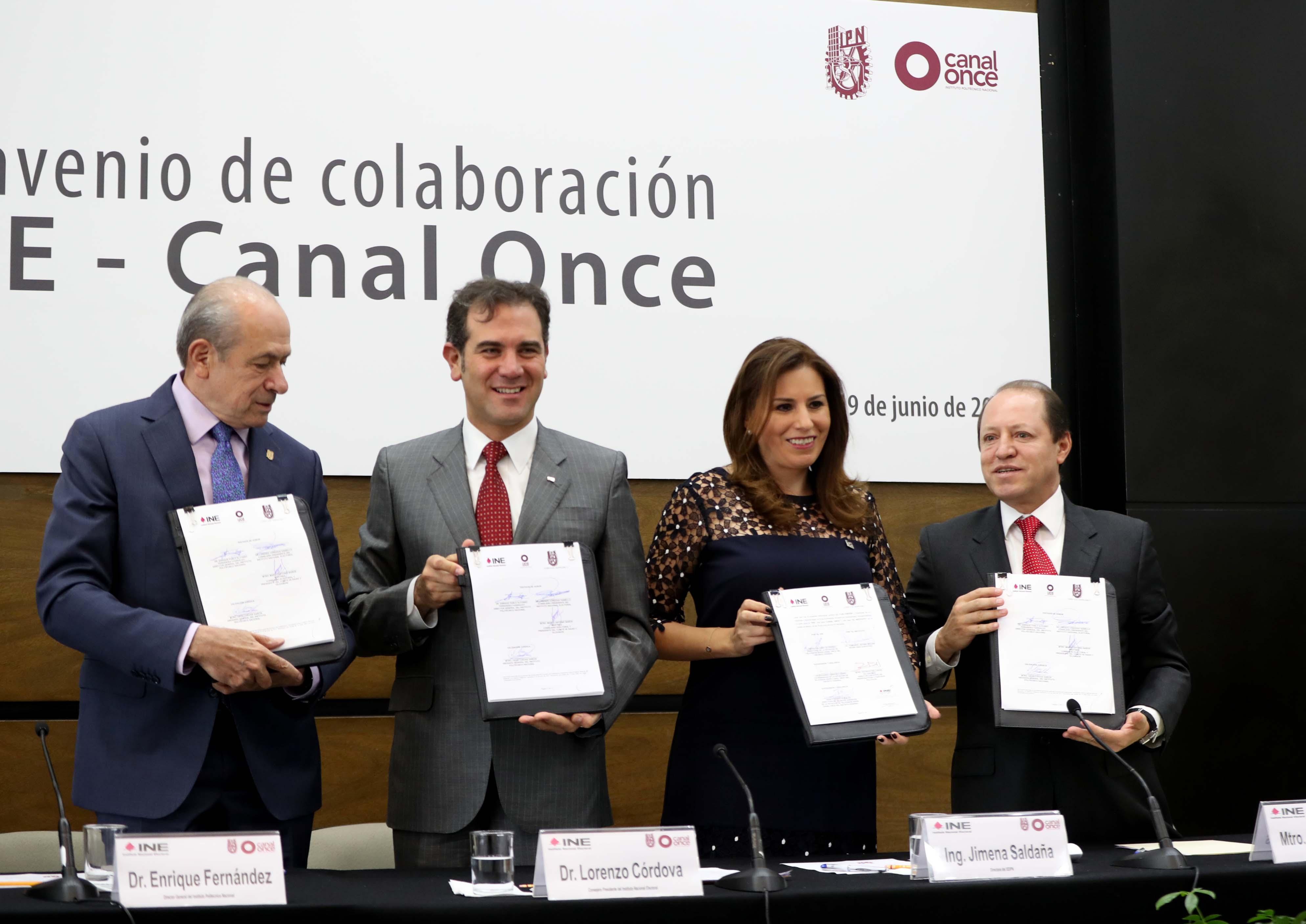 Firma de convenio de colaboraci n ine canal once central for Fuera de convenio 2017