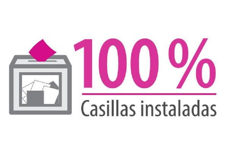 Instala INE el 100 por ciento de las casillas durante la Jornada Electoral - Central Electoral