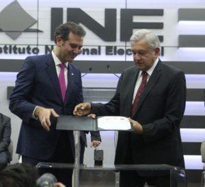 Recibe INE solicitud de registro de Andrés Manuel López Obrador como  candidato a la Presidencia de la República - Central Electoral