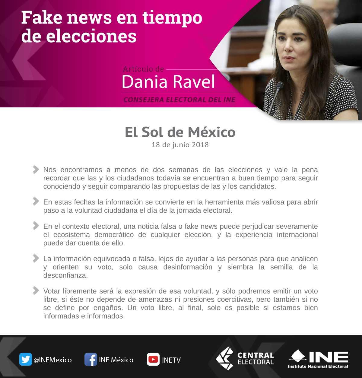 fake news en tiempo de elecciones artículo de dania ravel